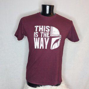 Star Wars Madalorian Graphic Tee Shirt Large